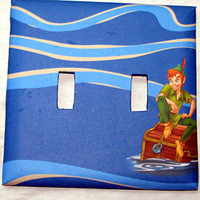 Double Light Switch Cover - Light Switch Plate Peter Pan