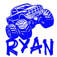 Personalized Monster Truck Vinyl Decal