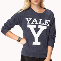 FOREVER 21 Y For Yale Sweatshirt Blue/White