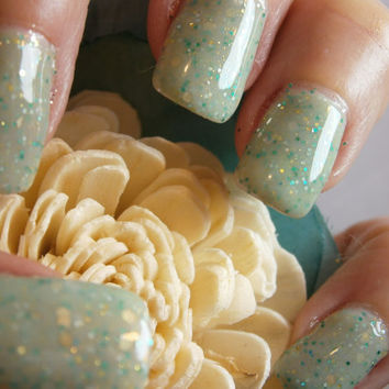 Aphrodisiac Nail Lacquer Minty Green by WonderBeautyProducts