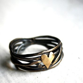 Custom Made to Order Nested Heart Ring in Sterling by luckyduct