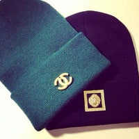 Chanel & Versace Beanie 2 Pack