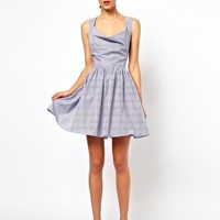 ASOS Sundress In Pin Stripe With Halter Neck