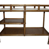 Rattan Bar Cart by Ficks Reed