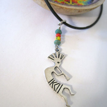 Kokopelli Necklace by 636designs