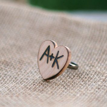 Personalized Rustic Ring Valentines Day Gift by braggingbags