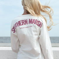 Southern Marsh Long Sleeve Rebecca Gingham Jersey