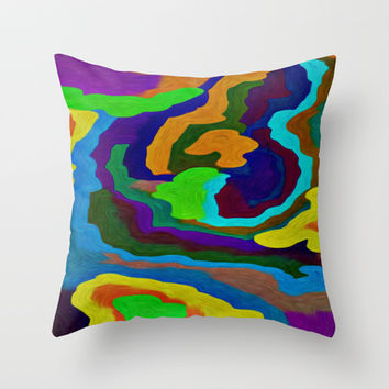 COLOR MADNESS Throw Pillow by Robleedesigns