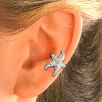 Starfish Ear Cuff in Sterling Silver for the LEFT EAR.