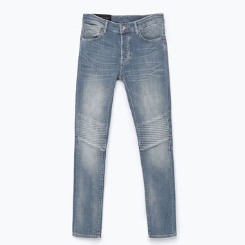 JEANS WITH KNEE-PATCHES New