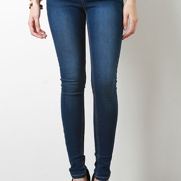 Light Washed Skinny Jeans