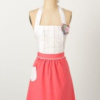 Tea-And-Crumpets Apron by Anthropologie Pink One Size Aprons