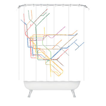 Restudio Designs NYC Subway Map Shower Curtain