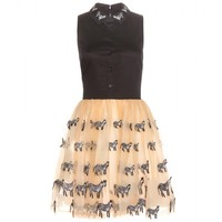 Preena zebra embellished dress