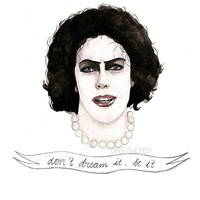 Dr. Frank-N-Furter watercolour portrait PRINT Rocky Horror Picture Show Tim Curry