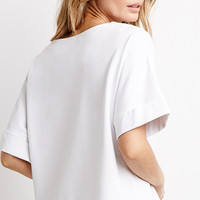 Boxy Cuff-Sleeve Top