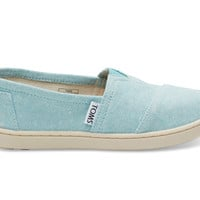 TOMS Aqua Chambray Youth Classics Blue