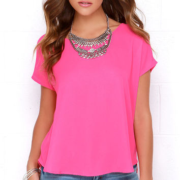 Wowee Zowee Hot Pink Top