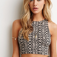Abstract Pixelated Crop Tank