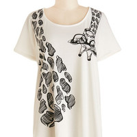 ModCloth Long Short Sleeves Hanging 'Round Town Tee