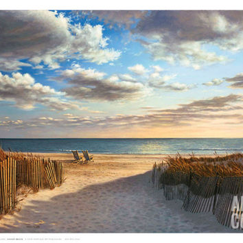 Sunset Beach Art Print by Daniel Pollera at Art.com