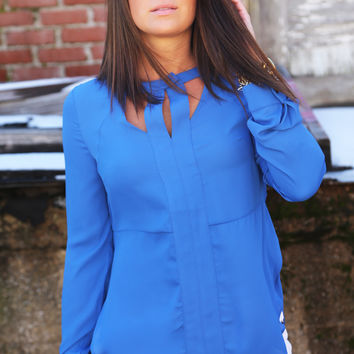 Her Something Blue Blouse