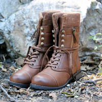 the chestnut brown sweater boots