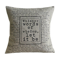 'Let it be' Cushion