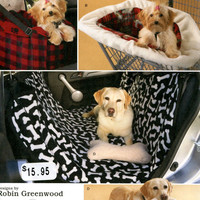 NEW DOG TRAVEL Accessories Pattern Car Seat Carrier, Shopping Cart Cover, Car Back Seat Cover, Dog Toys UnCUT Simplicity 2984 Sewing Crafts