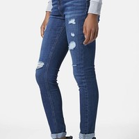Women's Topshop Moto Ripped Skinny Jeans