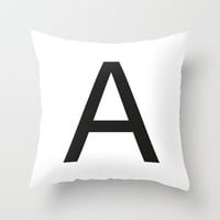 Letter A Throw Pillow by Social Creativity