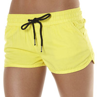 ALL ABOUT EVE SUMMER ESSENTIALS SHORT - YELLOW
