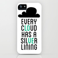 Every Cloud Has A Silver Lining iPhone & iPod Case by LookHUMAN