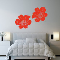 Poppies Set of Two Vinyl Wall Decals 22512