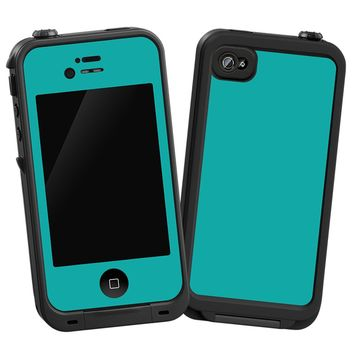 """Turquoise """"Protective Decal Skin"""" for LifeProof iPhone 4/4s Case"""