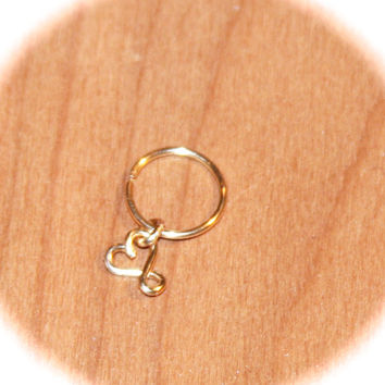 Infinity Heart Cartilage Earrings, Infinity Heart Nose Ring, Ear Cuff, Helix Hoop, Nose Rings, Seamless or Latched Hoop, Piercing Jewelry