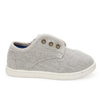 Light Grey Chambray Tiny TOMS Paseos
