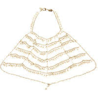 Rosantica - L'Imperatrice gold-dipped freshwater pearl body chain
