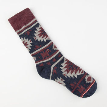 Stance Nu Native Womens Crew Socks Navy One Size For Women 25252721001