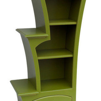stepped bookcase you choose the color by dustfurniture on Etsy