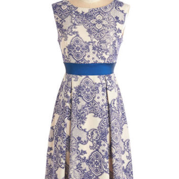 ModCloth Sleeveless A-line Twirl is On My Mind Dress