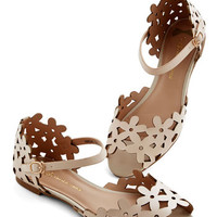 ModCloth Prancing Through the Petals Sandal in Beige
