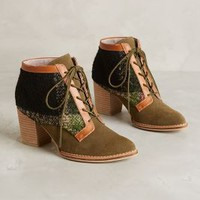 Pilcro Lace-Up Booties Moss