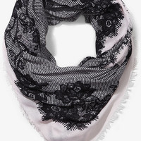 LACE PRINT SQUARE SCARF from EXPRESS
