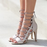 Free People Dusk To Dawn Lace Up Heel