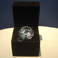 Engraved giant commemorative ring