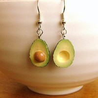 Kawaii Food Earrings Avocado by SouZouCreations on Etsy