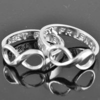 best friend ring, infinity ring, infinity knot ring, sterling silver ring, promise ring,personalized ring, friendship ring, sisters ring