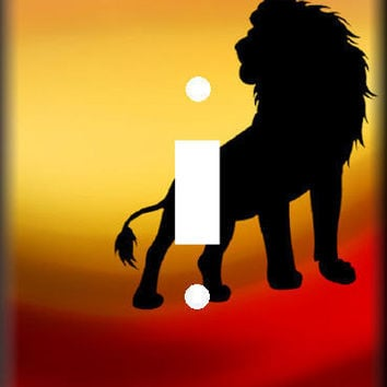 Lion Light Switch Cover Single or Double Switch Plate Cover for Bedroom On Sale