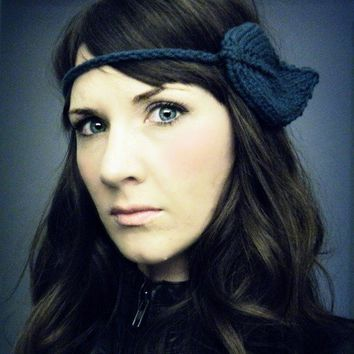 Headband of the Leafy kind in Teal by KittyDune on Etsy
